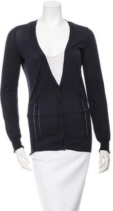 Vera Wang Long Sleeve V-Neck Cardigan $65 thestylecure.com