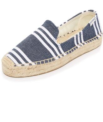 Soludos Striped Platform Smoking Slippers $65 thestylecure.com