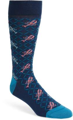 Ted Baker Meete Lobster Print Socks