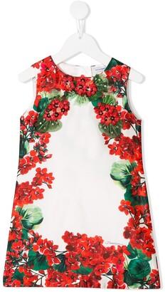 Dolce & Gabbana floral sleeveless dress