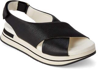 Manuel Barceló Park Slingback Leather Platform Sandals