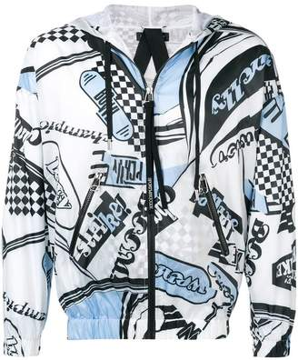 Sportmax Code Enfasi print hooded jacket