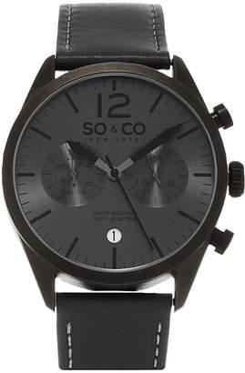 Co SO & So & Mens Gray Strap Watch-Jp15450