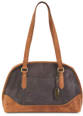 Leather Distressed Satchel