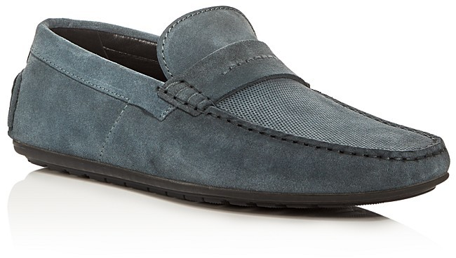 Hugo Boss HUGO Dandy Perforated Suede Driver Loafers