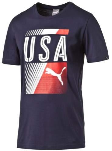 Puma Mens USA Graphic T-Shirt blue 2XL