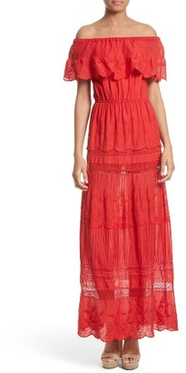 Women's Alice + Olivia Pansy Off The Shoulder Maxi Dress $465 thestylecure.com
