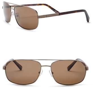 Zegna Uomo Men's Aviator 58mm Metal Sunglasses