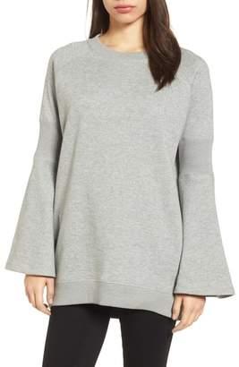 Kenneth Cole New York Bell Sleeve Ribbed Sweatshirt