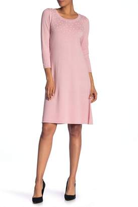 Nine West Pearl Detail Sweater Dress