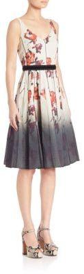 Marc JacobsMarc Jacobs Floral V-Neck Dress