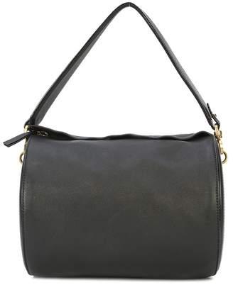 Oscar de la Renta Black Leather Medium Battery Bag