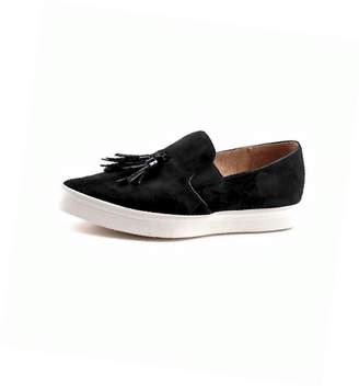 All Black Suede. Tassel Sneakers