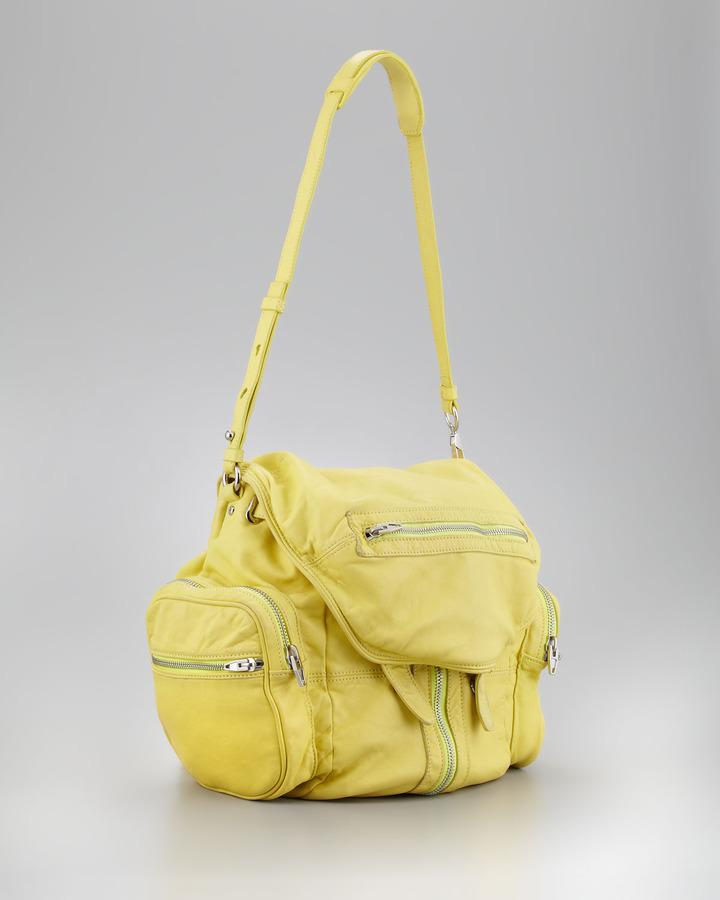 Alexander Wang Marti Zippered Backpack, Citrus