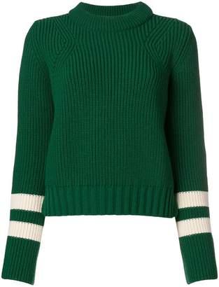 Baum und Pferdgarten ribbed knit striped sweater