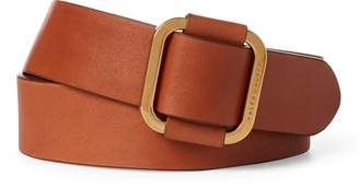Ralph Lauren Square-Buckle Calfskin Belt
