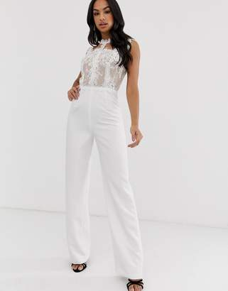 Bronx And Banco & Banco Charlotte lace jumpsuit