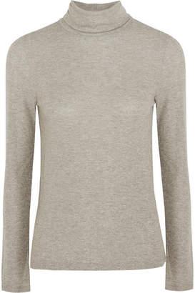 Madewell Metallic Ribbed-knit Turtleneck Sweater - Gray