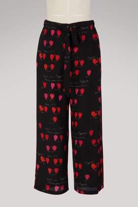 Alexander McQueen Silk pyjama pants
