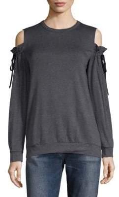 Supply & Demand Cold Shoulder Tie Sweater