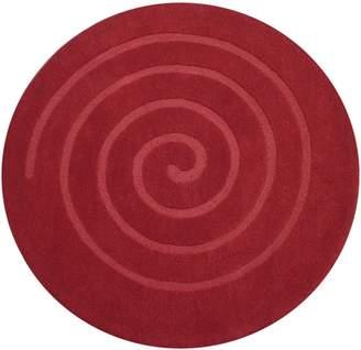 Cornermill Swirl Round Wool Rug, 160cm, White