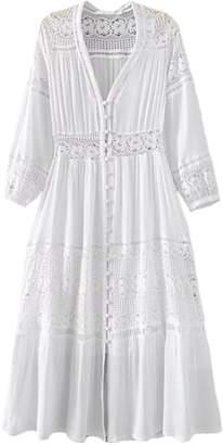 Goodnight Macaroon 'Vinnie' Lace Pleated V-neck Maxi Dress