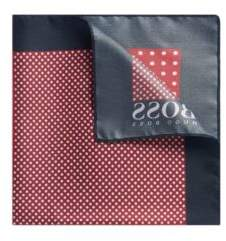 BOSS Hugo Travel Line pocket square in dotted water-repellent silk One Size Dark Red