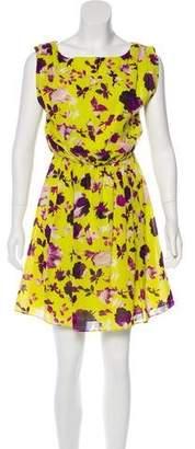Alice + Olivia Silk Floral Print Dress