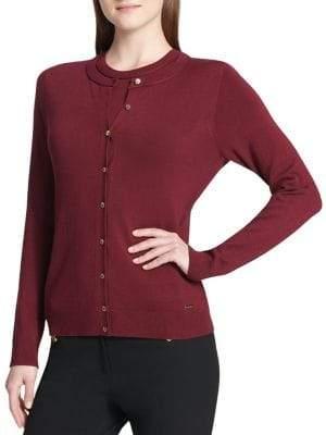 Calvin Klein Rib-Knit Cardigan