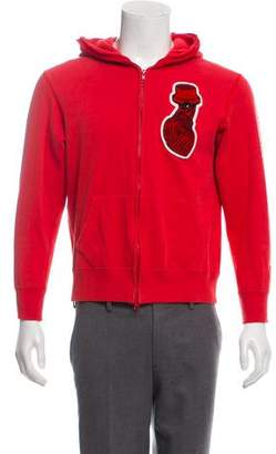 93800abd0ad Billionaire Boys Club Patch-Accented Full-Zip Hoodie