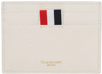 Thom Browne White Single Card Holder $290 thestylecure.com