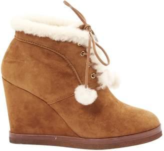 Michael Kors Camel Suede Boots
