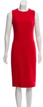 Michael Kors Virgin Wool Sheath Dress Red Virgin Wool Sheath Dress