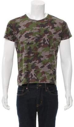Saint Laurent Camouflage Crew Neck T-Shirt