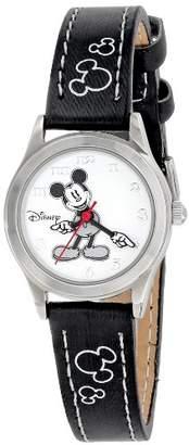 Disney Women's MK1006 Mickey Mouse Dial Black Strap Watch