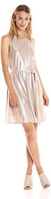 Paris Sunday Women's Sleeveless Elastic Waist A-line Dress