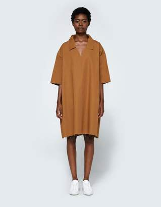 Ashley Rowe Collar Dress in Tan