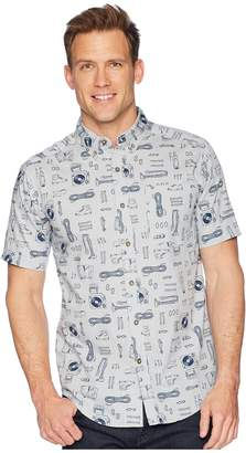 Royal Robbins Base Camp Print Short Sleeve Shirt Men's Short Sleeve Button Up