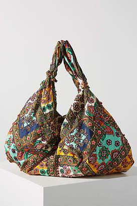 Anthropologie Clara Beaded Slouchy Tote Bag