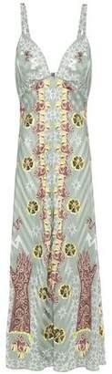 Temperley London Flux Printed Satin-jacquard Maxi Dress