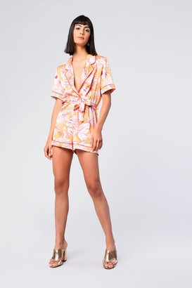 Glamorous Womens **Tropical Printed Playsuit By Marigold