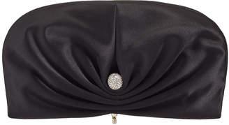 Jimmy Choo VIVIEN Black Satin Clutch Bag