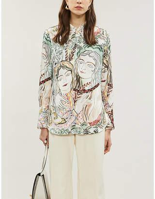 3.1 Phillip Lim Graphic-print silk-twill shirt