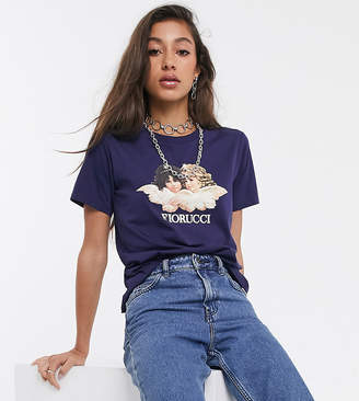 Fiorucci vintage angels t-shirt in navy