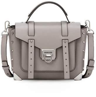 Michael Kors Manhattan Medium Pearl Grey Handbag