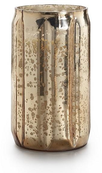 Illume Gilded Amberleaf Pillar Mercury Candle, 19 oz.