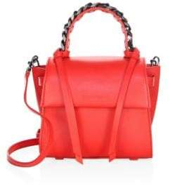 Elena Ghisellini Flap Mini Leather Top Handle Bag