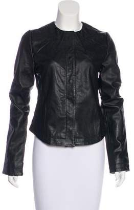 Winter Kate Leather Pleated Jacket