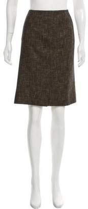 Akris Wool Knee-Length Skirt Brown Wool Knee-Length Skirt