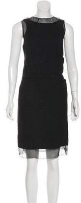 Chanel Knee-Length Tweed Dress